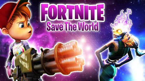 chipmunk saves  world  fortnite part  alvin