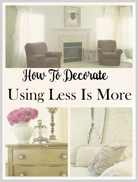 home decor for less home decor ideas using less is more