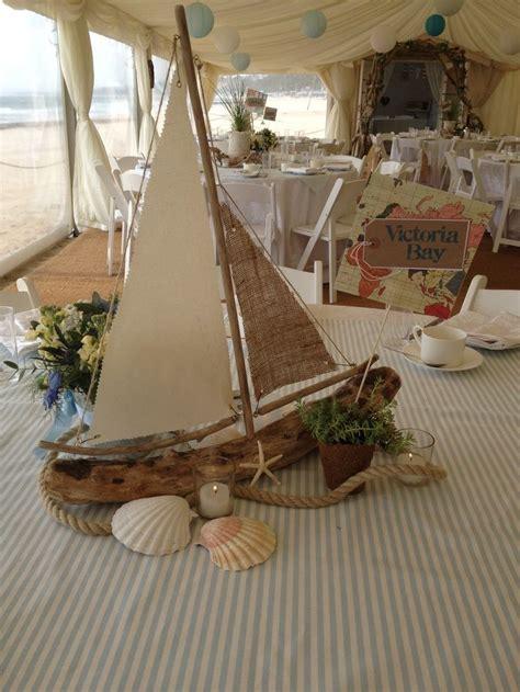 boat wedding decoration ideas driftwood sailboat centerpiece wedding decorations