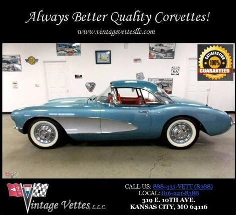 best car repair manuals 1957 chevrolet corvette seat position control 57 corvette c1 1 ncrs 283 245 convertible cv blue nar soft top power silver for sale photos