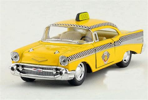 Diecast Chevrolet Taxi yellow 1 40 scale diecast 1957 chevrolet taxi