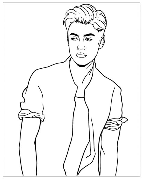 justin bieber color pages az coloring pages
