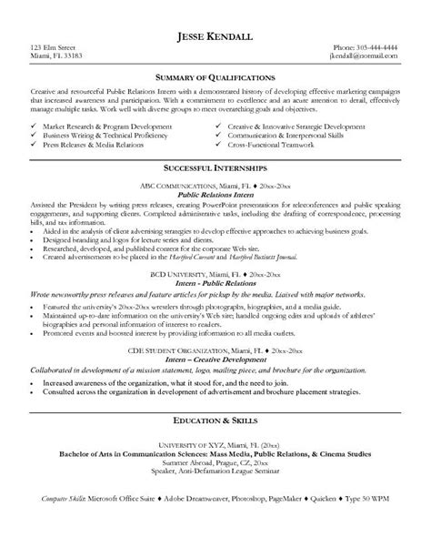 Public Relations Resume Sample – This free sample was provided by AspirationsResume.com