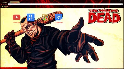 theme google chrome the walking dead negan lucille the walking dead chrome theme themebeta