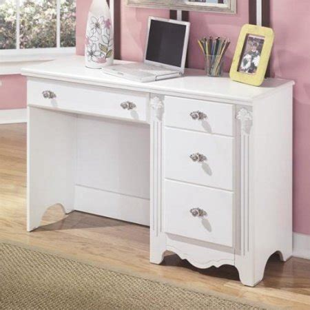 Desk Bedroom Furniture Signature Design By Furniture Exquisite 4 Drawer Bedroom Desk In White Walmart