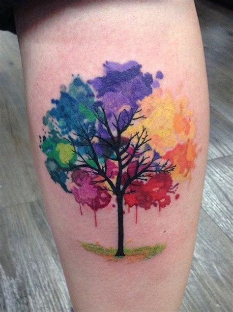 watercolor tattoo life 25 trending watercolor tree ideas on
