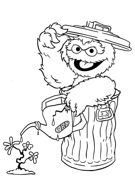 sesame street coloring book pages coloring pages