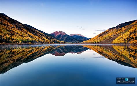 Fall Colors 2017 by Pristine Crystal Lake Reflects The Colors Of Autumn In