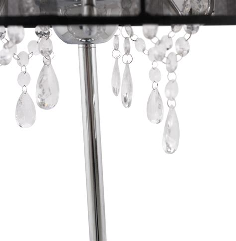 table l shade with crystal droplets crystal drop chandelier table l shade