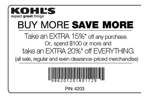 when are kohls coupons coming out