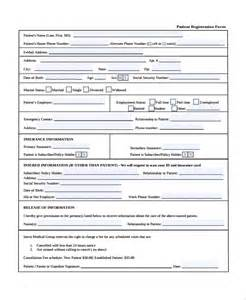 patient forms template sle patient registration form 8 free documents