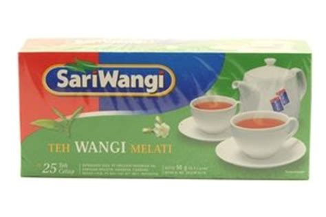 Teh Sari Wangi 1 Kotak sari wangi teh wangi melati tea 25 ct 1 76oz 6 units grocery