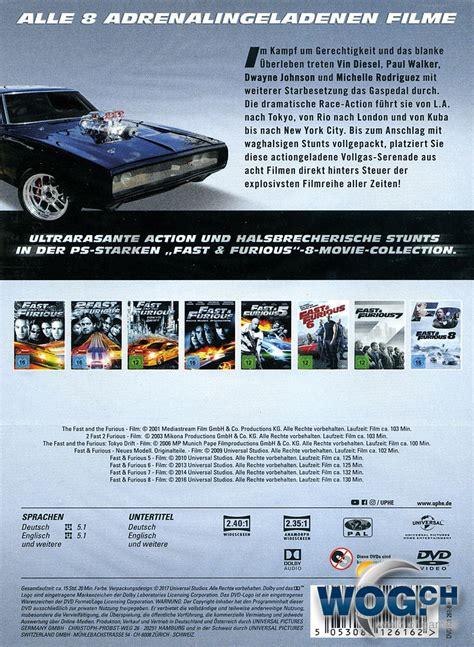 Fast Furious Collection fast furious 8 collection 8 dvds dvd filme