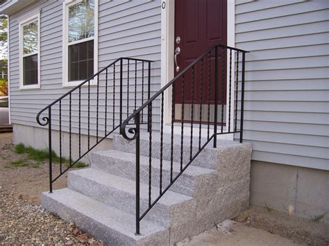 Outside Kitchen Design Ideas Modern Iron Railing For Outside Steps Railing Stairs And