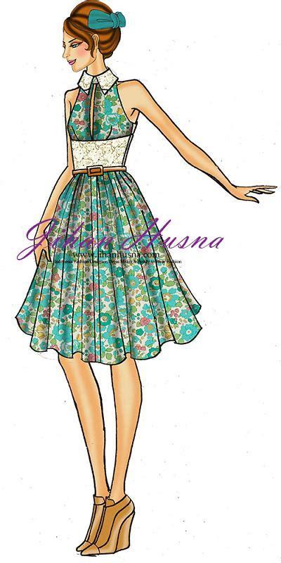 desain sketsa dress wanita desain dress party jihanhusna spesialis rumah jahit