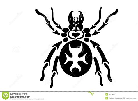 tribal spider tattoo design royalty free stock