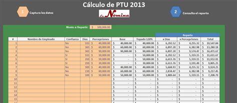 Ptu 2016 Retenciones Isr | calculo de ptu 2013 en excel