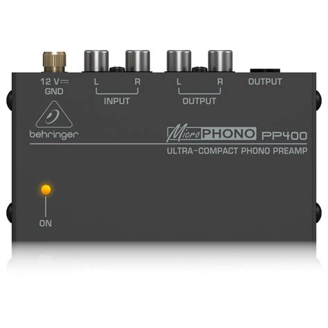 Behringer Phono Prelifiers Microphono Pp400 behringer pp400 microphono phono pre at gear4music