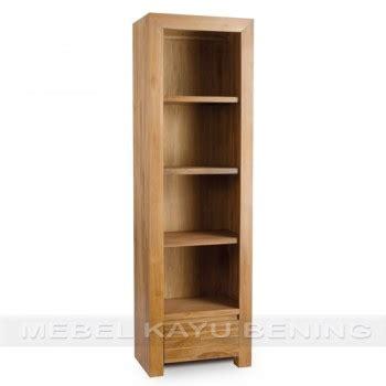 rak buku jati model minimalis simple buatan jepara rak buku kayu jati model minimalis simple