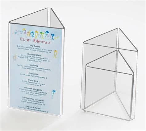 restaurant table top display stands acrylic table stands menu card holders plastic table