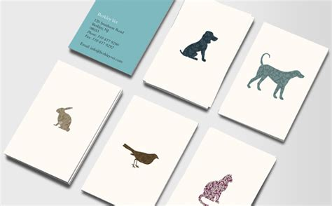 stuffed animal name card template animal outlines business cards