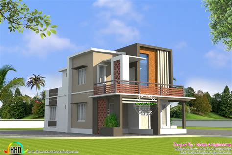 cost building home low cost double floor home plan kerala home design and