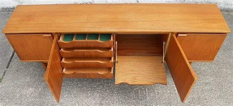 nice cabinet desk 3 vintage credenza desk furniture 1960 s retro long teak sideboard by stonehall sold