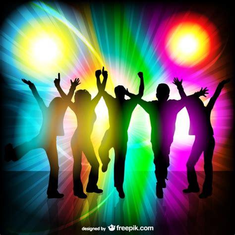 imagenes vectores fiesta vector siluetas de gente en fiesta descargar vectores gratis