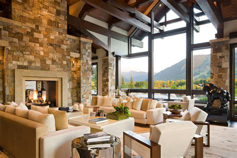 view interior of homes beautiful luxury house with staggering view over aspen
