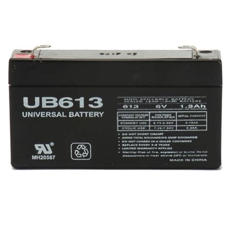 6 volt 1 3 ah security alarm battery replaces casil ca613