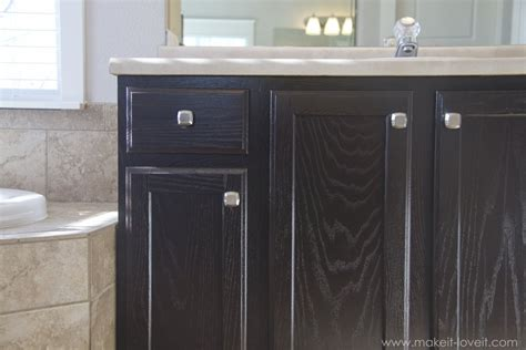 stain bathroom cabinets how to refinish bathroom cabinets with stain www