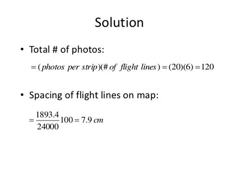Photogrammetry Course Outline by Ge 178 Lecture 7 Flight Planning