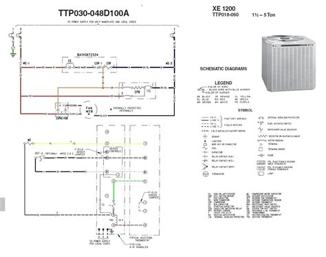 trane air conditioner wiring schematic tranetwg diagram on