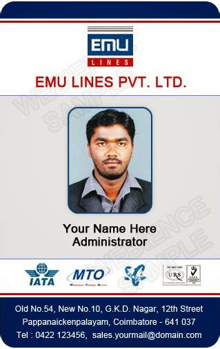 Staff Card Template by Template Galleries Employee Id Card Templates 140310