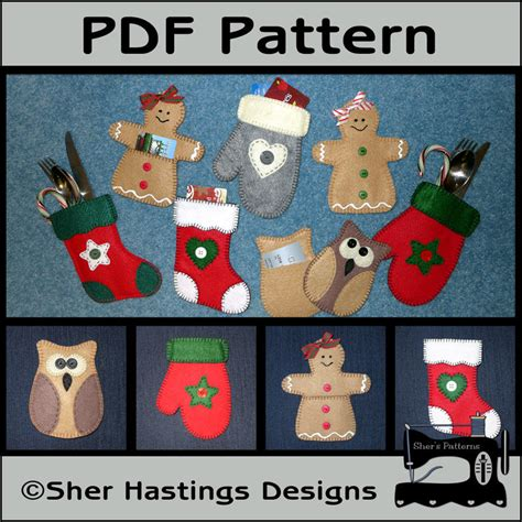 Christmas Gift Card Holders - pdf pattern for gift card holders christmas gift card holder