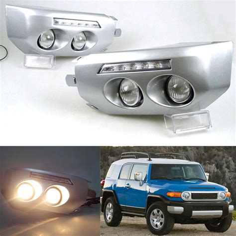 Fj Cruiser Fog Lights by 2007 14 For Toyota Fj Cruiser Car Daytime Running Light