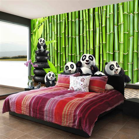 panda wallpaper for bedroom aliexpress com buy free shipping 3d green bamboo large