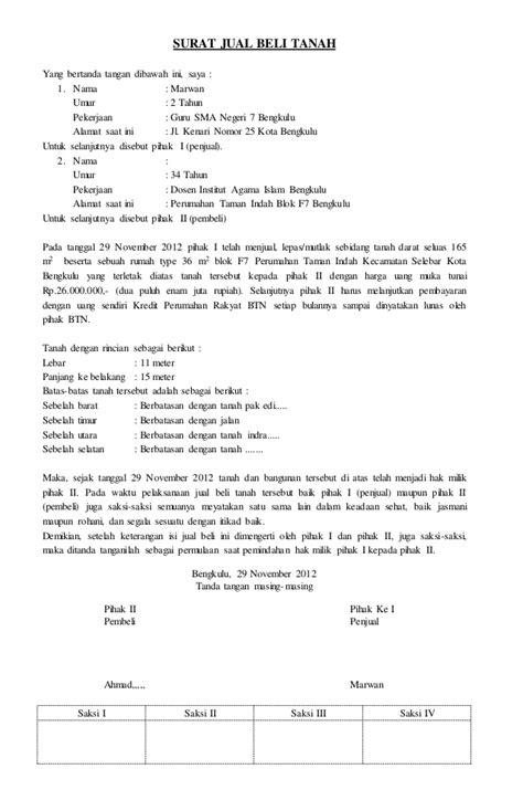akte jual beli tanah pengurusantanah net contoh surat