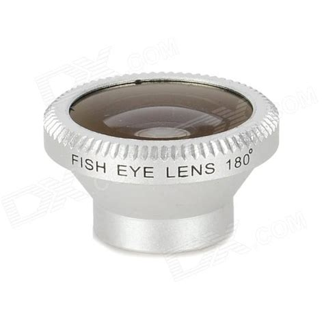 lesung universal 180 degrees fish eye lens w magnet mount for cell phone silver black