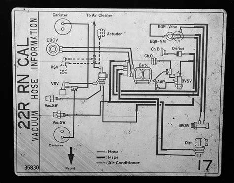 1982 toyota up vacuum diagram toyota auto wiring