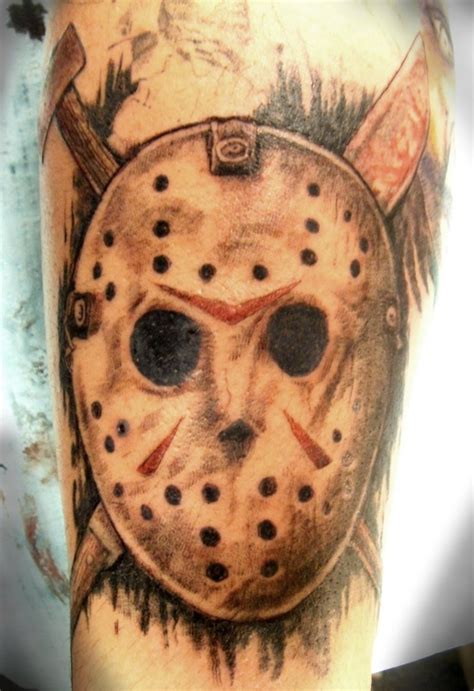 jason tattoos 12 terrifying jason voorhees tattoos