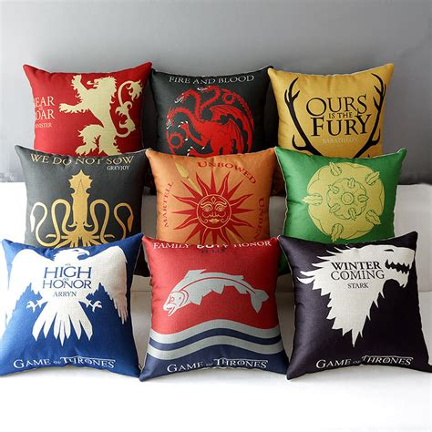 How To Make A Pillow Chair by 18 Quot Square Of Thrones Cotton Linen Cushion Cover Sofa