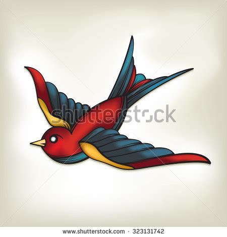 swallow tattoo stock images royalty free images amp vectors