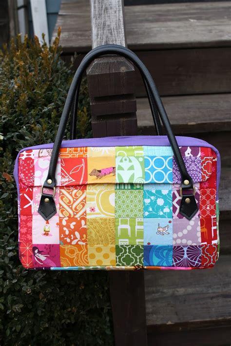 Free Patchwork Bag Patterns - tutorial the conversation bag sew sweetness