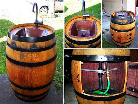 backyard sink easy diy keg sink for your backyard hometalk