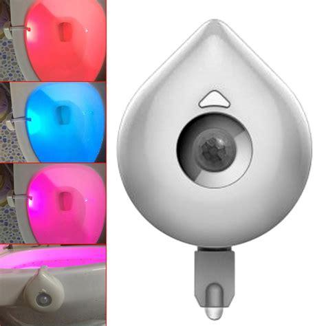 automatic light sensor for bathroom new design 8 color led automatic pir motion sensor