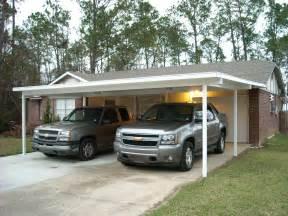 White insulated double carport