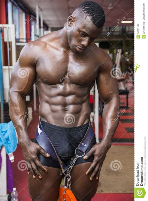 terry crews vegan hunky muscular black bodybuilder working out in stock