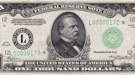 Image Of 1000 Dollar Bill