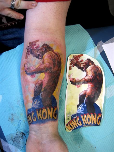 king kong tattoo king kong by ellegottzi on deviantart